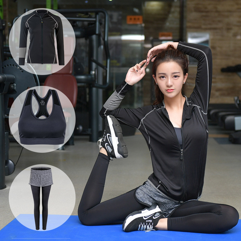 цена Yoga Set Sports Wear For Women Gym Clothing Fitness Breathable Women Yoga Set Workout Clothes Sportswear