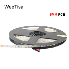 LED Strip Light 12V DC 5MM PCB SMD 3528 Flexible Cool Warm White 5M 10M Tira LED Strip Tape Stripe for Home Decoration Lighting 18w 1200lm 635 700nm 300 smd 3528 led red light car flexible decoration strip dc 12v 500cm