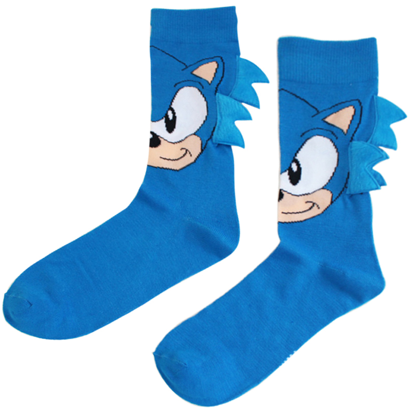 Anime Game Sonic The Hedgehog General Socks Sonic Men's Knee-High Stitching Pattern Antiskid Invisible Casual Socks Adult Gift