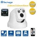 Новый Широкоугольный 2.8 ММ Объектив 720 P 960 P Крытый Купольная Ip-камера 2 ШТ. МАССИВ СВЕТОДИОДНЫХ ИК Ночного Видения ONVIF P2P Сети Видеонаблюдения камера