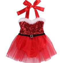 Christmas Baby Girls Dress 2018 Xmas Baby Vestidos Rompers Jumpsuit Playsuit Santa Tutu Dress Outfits Costume