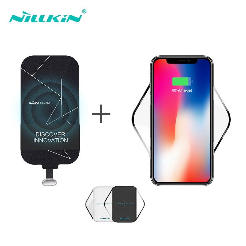 Wireless Charging Kit Include Qi Wireless Caricabatterie Pad e Qi Ricevitore di Ricarica Patch Modulo per Xiaomi per Samsung Per iPhone