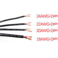 2 Pin 10M 20M 18AWG 20AWG 22AWG 24AWG Electric White Black Extension Wire LED power Cable for single color strip