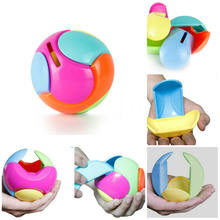1 Set Baby Educational Coin Piggy Bank Models Puzzle Assembly Money Saving Box Jigsaw Puzzles Ball Kids Toys Children Birthday(China)