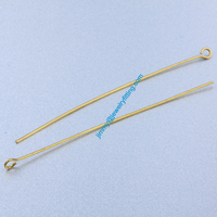 Jewelry Making findings Raw Brass Eye Pins ;Scarf Pins findings 0.7*64mm shipping free