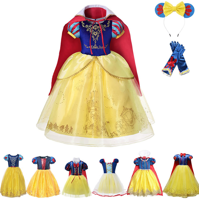 Xmas SnowWhite Princess Queen Kids Girl Costume Red Fancy Dress Gift Party 2-8Y