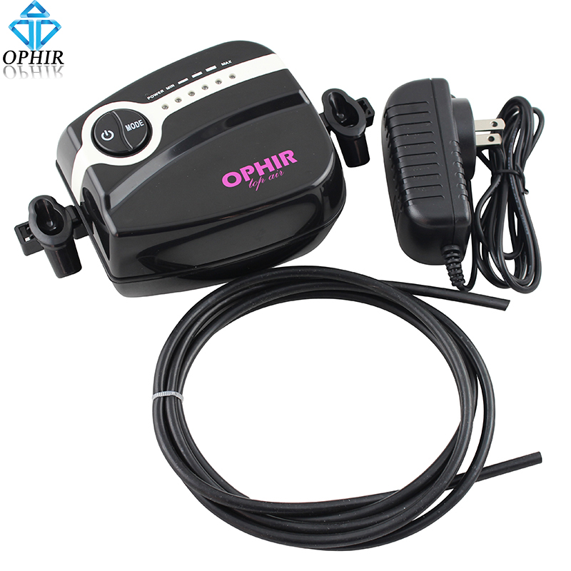 OPHIR Paint Airbrush Compressor Portable 5 Adjustable Speed Mini Air Compressor for Nail Art Makeup Model Paint Machine#AC094B ophir mini air compressor