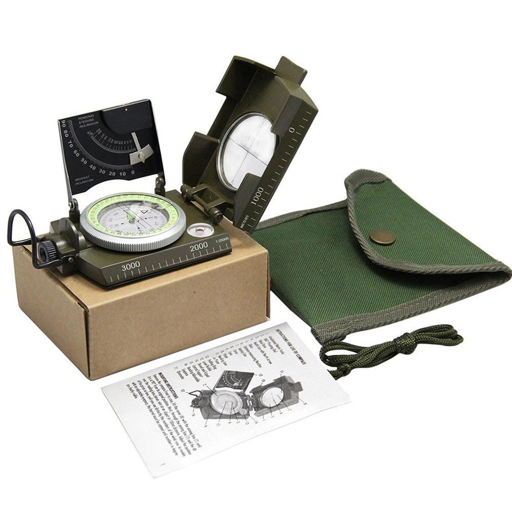metal bussola luminosa clinometer campismo ed shipping 05