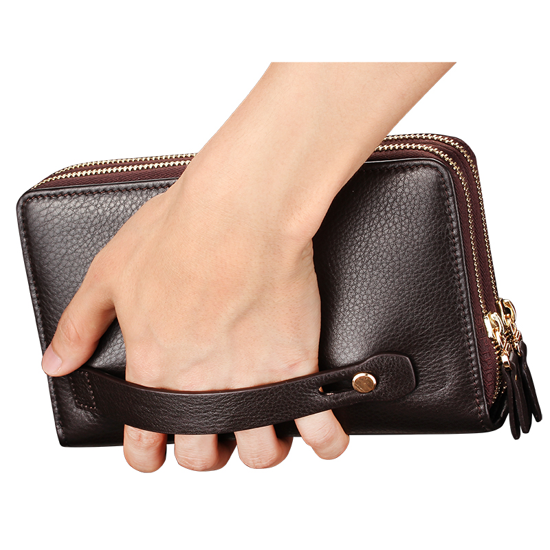 New Brand Business wallet mens pocket coin men purse Large capacity multi-card bit Casual Clutch portfolio Fashion wallet 2018