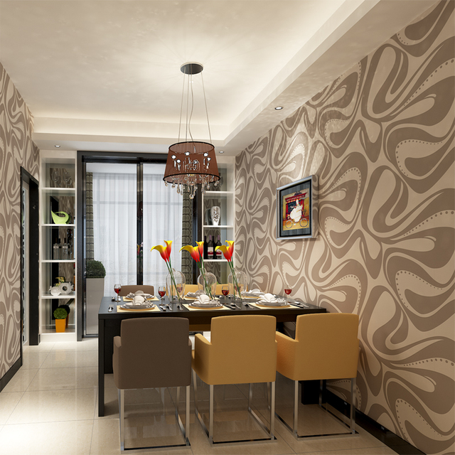 US $39.89  HANMERO Schaum Zeitgenössische Wandverkleidungen Wasserdicht  Abnehmbare Grau Wand Papier für Esszimmer Wohnzimmer QZ0442 in HANMERO  Schaum ...