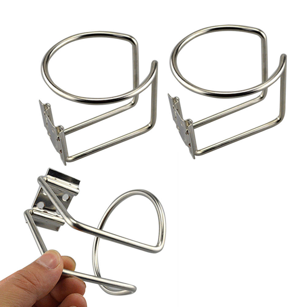 2Pcs New Hot Car Ring Cup Holder Stainless Steel Water Drink Beverage Bottle Stand Holder For Marine Boat Yacht Truck RV