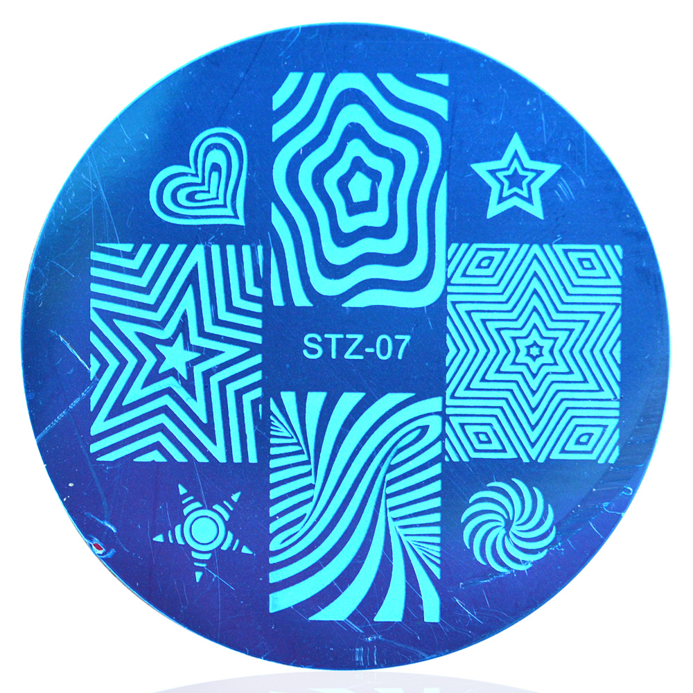 1pcs Nail Art Plate Stamp Stamping Stainless Steel DIY Nail Art Polish Print Manicure Decor Nail Stencil Template LASTZA07