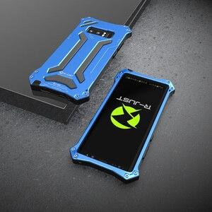 Image 5 - Чехол для Samsung Galaxy Note 10 Plus, металлический алюминиевый силиконовый сверхпрочный защитный чехол для Samsung Note 9, роскошный армированный чехол