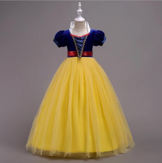 Nouvelle haute qualité enfants princesse sofia robe pour bébé filles neige blanc Cosplay Costume enfants fête de noël tutu robes