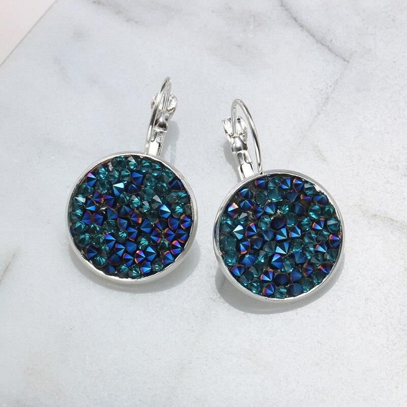 SUTEYI Fashion Earrings Jewelry Silver Plated Crystal Rhinestone Earring Charms Art Earings Wedding Party Women Best Jewelry