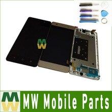 1 PC/Lot Pour Huawei Honor 4C G Play Mini LCD Display + Tactile écran Assemblée Digitizer Avec Cadre En Or Blanc Noir Couleur Avec outils