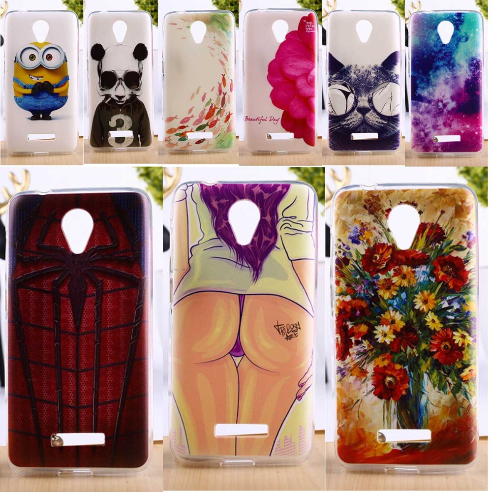 DIY Painted Soft TPU Phone Cover For Micromax Canvas Spark Q380 Cases Top Quality Elegant Mobile Phone Accessories