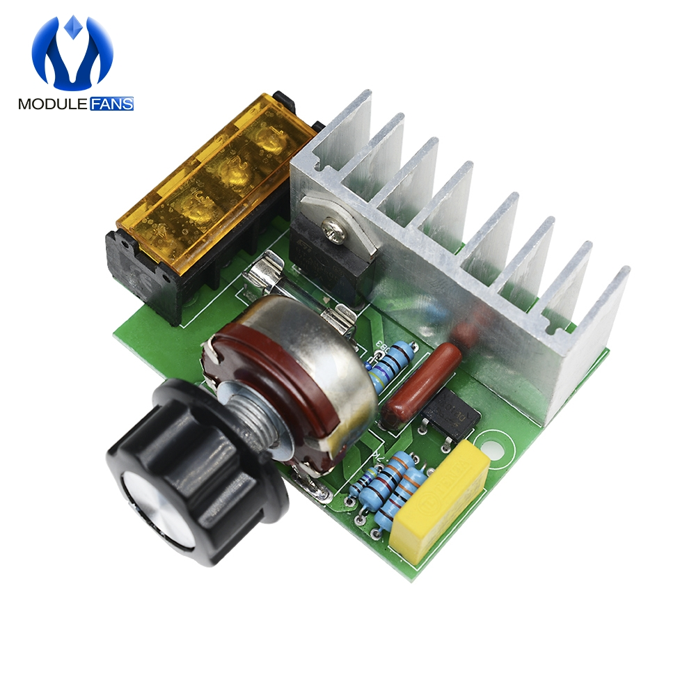 AC 220V 4000W Voltage Regulator Motor Speed Controller Fan Thermostat Dimmer