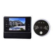Buy 3.5 Inches LCD Digital Door Doorbell Peephole Peep Hole Viewer Camera Night Vision 120 Wide Degree Angle Viewing Doorbell