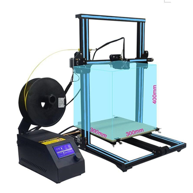 2018 New Design Pre-assmbly Flsun 3D Printer Large Printing Area 300*300*400mm Super Hot  Resume Power Failure Printing