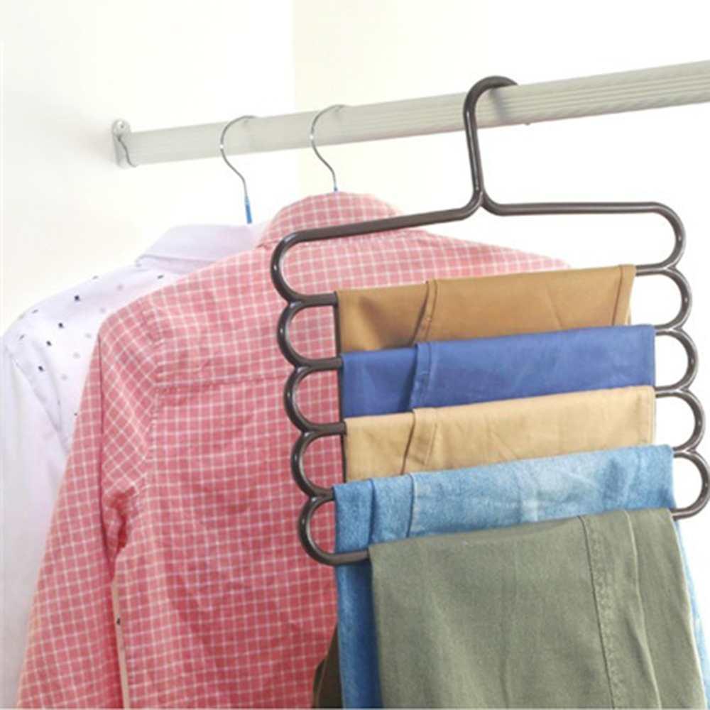1 Adet Çok Amaçlı Beş katmanlı Pantolon Askısı Kravat Havlu - Mobilya - Fotoğraf 2