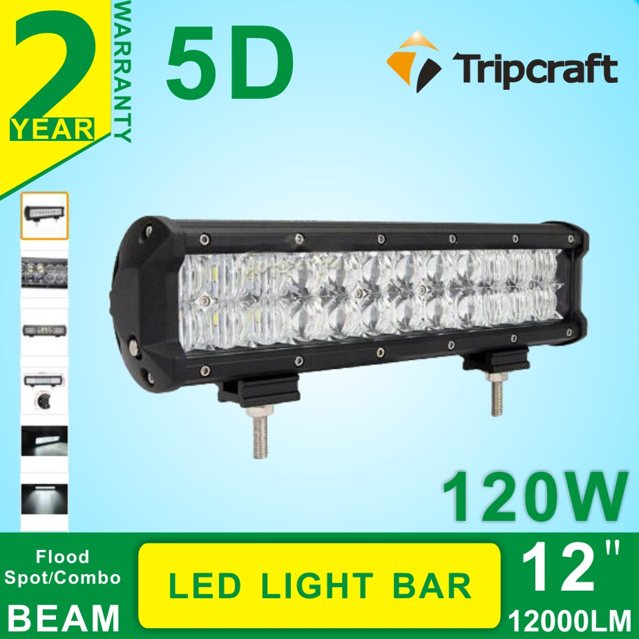 Hot sale, 12Inch 120W 5D LED Combo Work Light Bar Work Light Off-road Driving Lamp Combo Beam 4WD Truck 12V