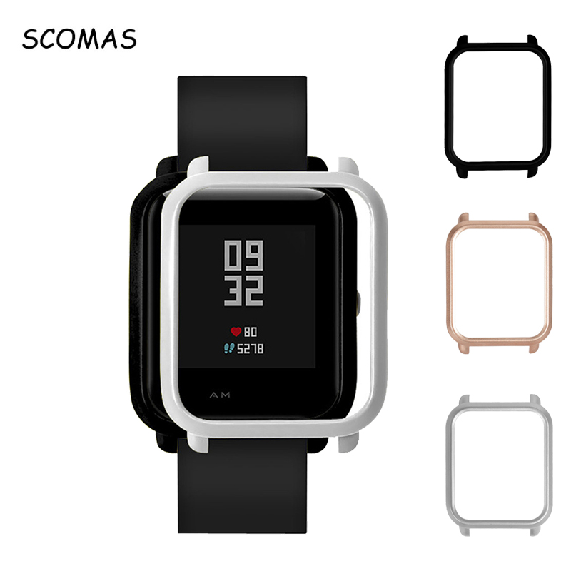 SCOMAS For Xiaomi Huami Amazfit Bip Younth Watch Protector Cases Multicolor PC Cover Frame Shell for Huami Amazfit Bip Watch