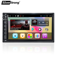 SilverStrong 1Din Universal 7inch 1024*600 Android Car Radio DVD DAB+ With Android OS GPS Navigation without DVD player 707T3