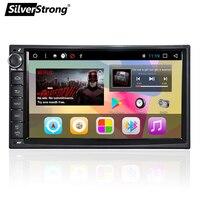 SilverStrong 2Din лицо Универсальный 7 дюймовый android автомобильный радиоприемник DVD 1Din тела DAB + с Android gps навигации без DVD 707T3