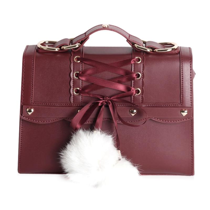Princess sweet lolita bag Japanese soft sister Harbin girl single shoulder bag handbag fashion and all match bag MZSN010 цена 2017
