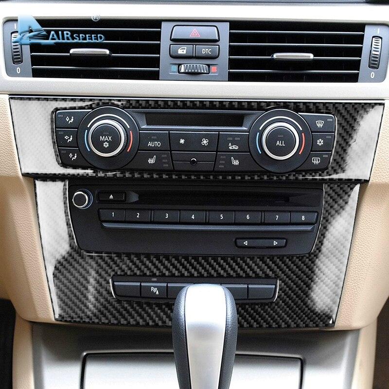 Скорость полета для BMW 3 серии E90 E92 E93 аксессуары салона углеродного волокна кондиционер CD Панель крышка отделочные украшения