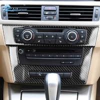 Airspeed for BMW 3 Series E90 E92 E93 Accessories Car Interior Carbon Fiber Air Conditioning CD Panel Cover Trim Decorations