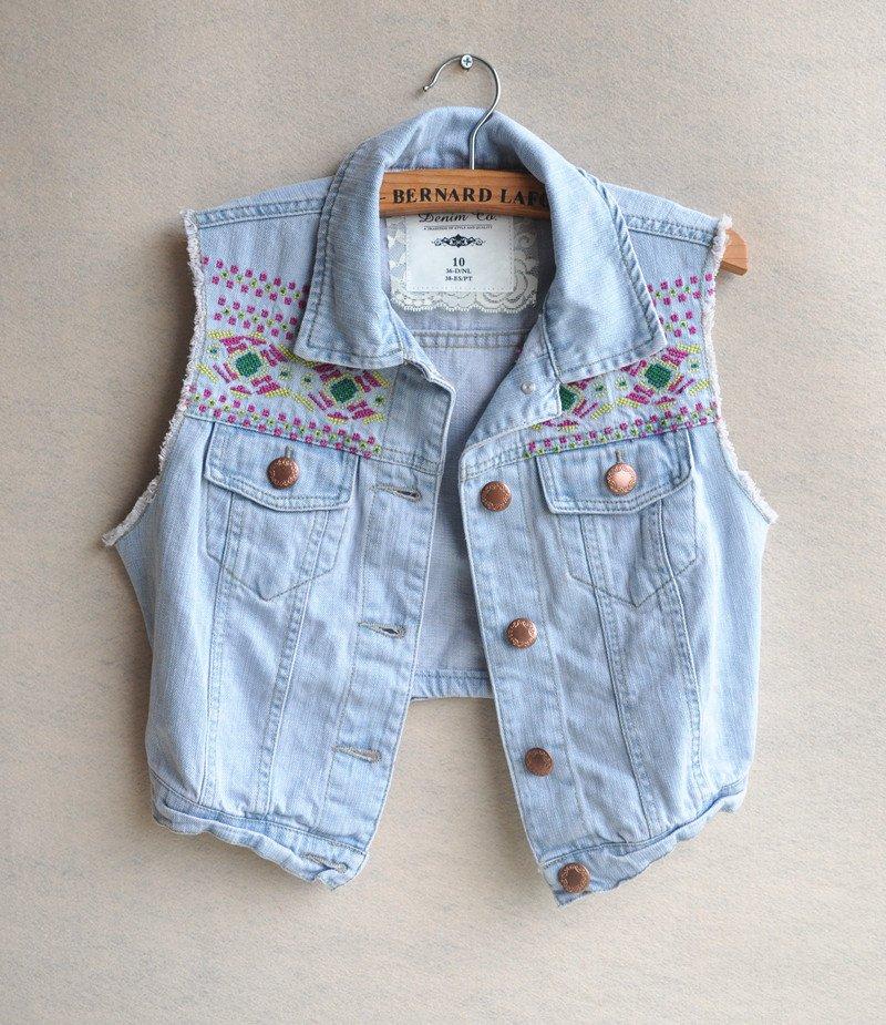 Popular Short Jean Vest-Buy Cheap Short Jean Vest lots from China ...
