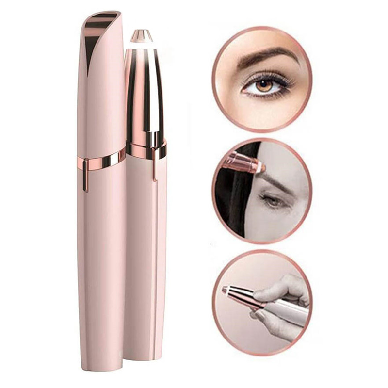 Multifunction Lipstick Eyebrow Trimmer Face Brows Hair Remover Epilator Pen Mini Electric Shaver Painless Eye Brow Epilator(China)