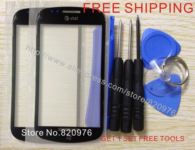 10pcs/Lot Wholesale Original Replacement Front Touch Screen Outer LCD Glass For Samsung i917 917 (Focus) +Free Shipping