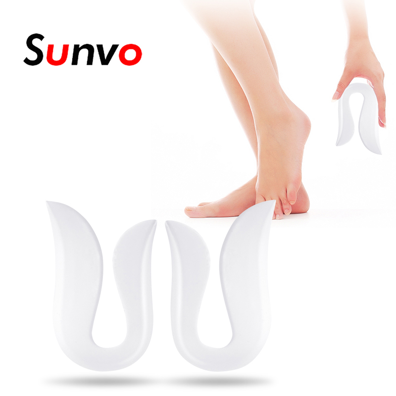 Sunvo Silicone Gel Heel Inserts U-shaped Plantar Fasciitis Heel Spur Pain Relief Protective Insoles Unisex Casual Cushion Pads heel