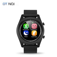 DTNO.1 S9 NFC MTK2502C Touch Smartwatch Heart Rate Monitor Bluetooth4.0 Smart watch Bracelet Wearable Devices for iOS Android
