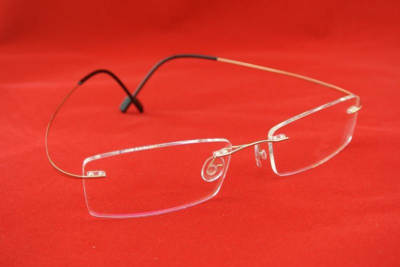 Flexible Rimless Luxury Pure Titanium Reading Glasses +50 +75 +100 +125 +150 +175 +200 +250 +3 +350 +375 +400 +425 +450 +475 +5