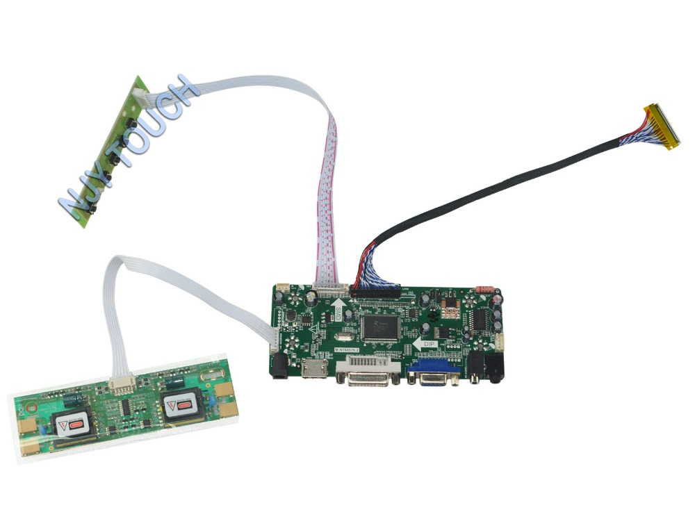 M.NT68676.2A Universal HDMI VGA DVI Audio LCD Controller Board for 20.1 inch 1400x1050 M201P1-L01 4CCFL Monitor Kit Easy to DIY m nt68676 2a universal hdmi vga dvi audio lcd controller board for 17inch 1400x900 ccfl lvds monitor kit diy for raspberry pi
