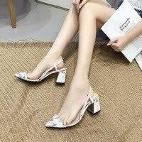 Fashion Womens Shoes 2019 Plastic Sandal Female Sandals Espadrilles Platform Block Heels Slip on Loafers Summer Women's Luxury