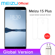 Official Meizu 15 Plus 6GB RAM 64GB ROM Global Version Mobile Phone Exynos 8895 Octa Core 5.95inch 2560x1440P Fingerprint ID