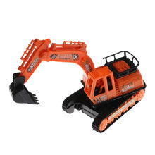 1pc High Simulation Big Size Plastic Orange Engineering Digging Machine Excavator Model Kids Toys 12cm*6.2cm*14cm(China)