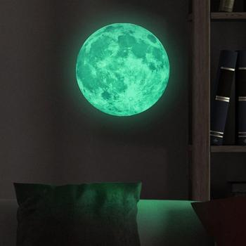 Glow Star Moon Wall Stickers Luminous Moon Glow in the Dark For Kid Room Decoration Pegatinas De Pared Mural Creative Decals
