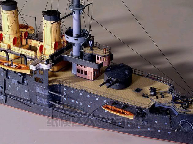 Scale 1 250 Military Ship Model Czar Russia Navy Oslabya Warship 3D Paper Model Handmade Art Toy in Model Building Kits from Toys Hobbies
