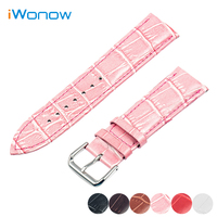 Genuine Leather Watch Band 14mm 16mm 18mm 20mm 22mm 24mm For Citizen Stainless Pin Buckle Strap