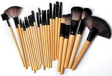 24pcs Professional MAKEUP Brushes set Make up tools Horse Hair Brush kit of cosmetic with bag FREE SHIPPING