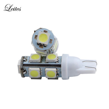 Leites 500pcs T10 5050 9 SMD LED for 194 168 192 W5W LED lamp Signal Light Side Marker Lamp Bulbs 12V Led Lamp car-styling