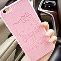 Высокое качество Pu Кожа милый Hello kitty case для Apple iphone 6 6 s 6 плюс 7 7 плюс Любителей силикона TPU телефон case задняя крышка capa