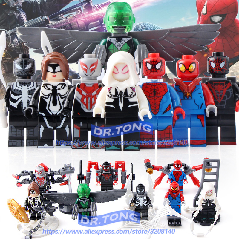 DR.TONG 80PCS/LOT SY688 Super Heroes Spiderman Superman Captain America Thor Bricks SET Model Building Blocks Children Gift Toys single sale super heroes x men white yellow red deadpool bricks set model building blocks collection toys for children x0101