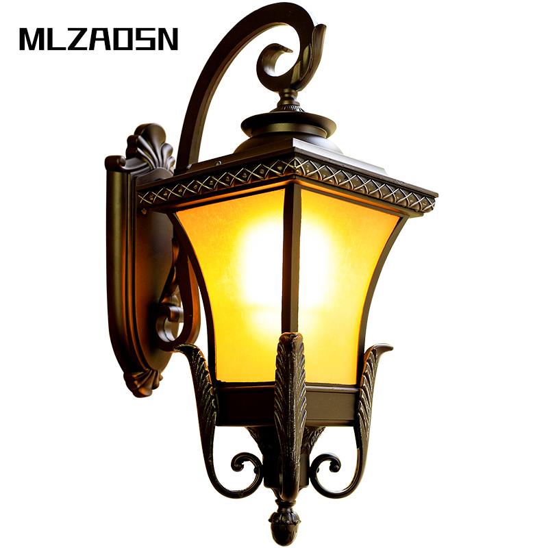 Led Outdoor Wall Light Waterproof Balcony Exterior Wall Light Hotel Stair Corridor Led Wall Lamp Nordic Modern Outdoor Sconce Elegant And Sturdy Package Outdoor Wall Lamps